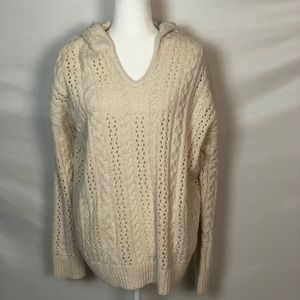NWOT Rue and Willow Cream Chenille Sweater Sz XL
